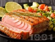 Маринована цитрусова риба тон (филета) на грил / скара